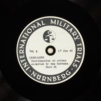 Day 36 International Military Tribunal, Nuremberg (Set A)  Click to enlarge