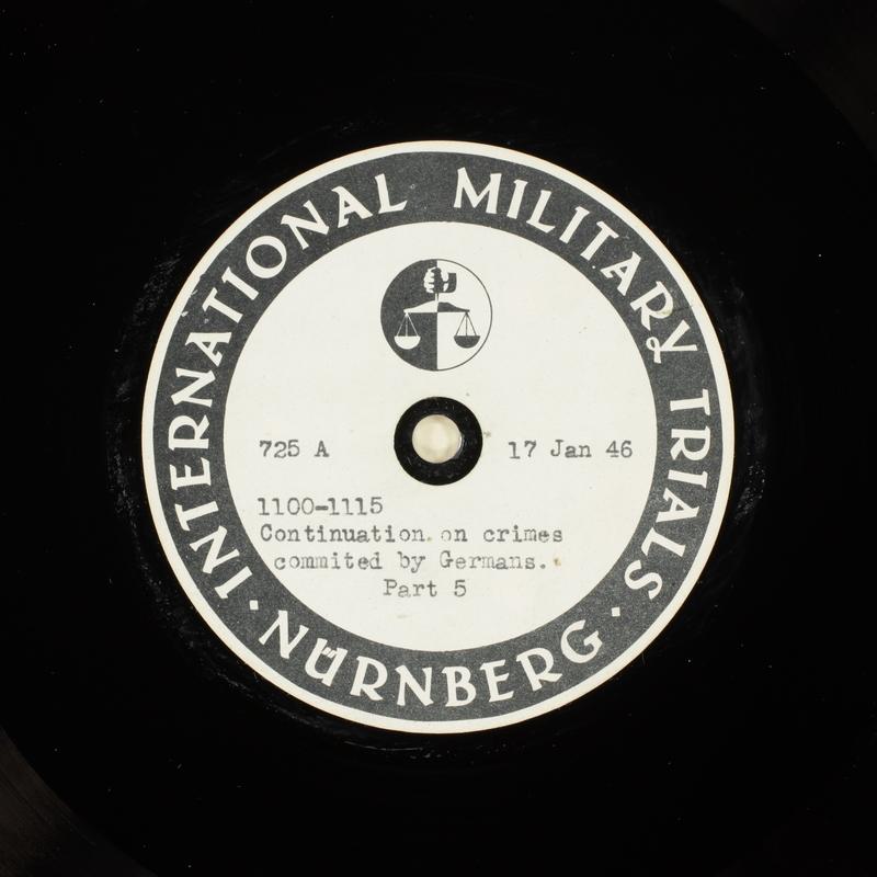 Day 36 International Military Tribunal, Nuremberg (Set A)