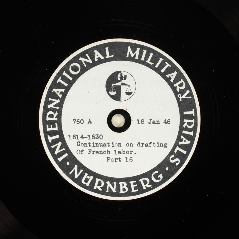 Day 37 International Military Tribunal, Nuremberg (Set A)