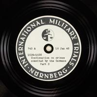 Day 37 International Military Tribunal, Nuremberg (Set A)  Click to enlarge