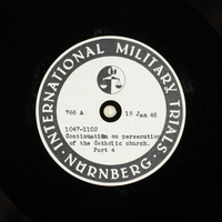 Day 38 International Military Tribunal, Nuremberg (Set A)  Click to enlarge