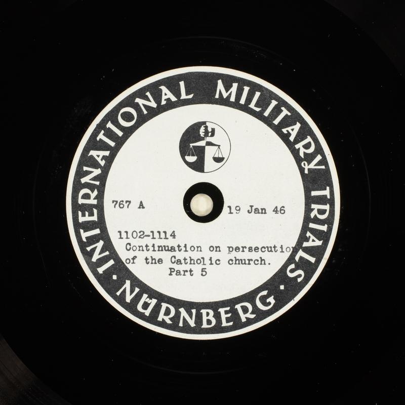 Day 38 International Military Tribunal, Nuremberg (Set A)