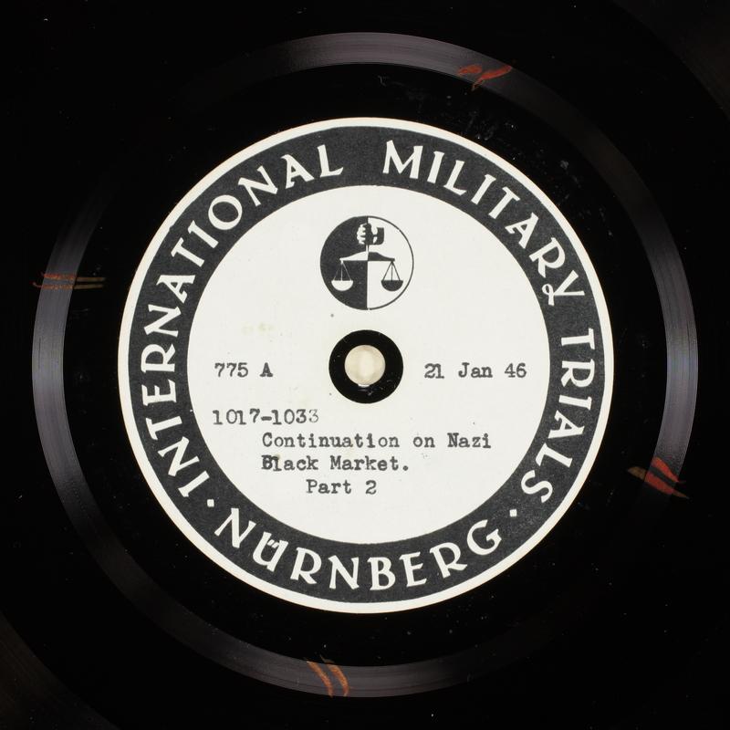 Day 39 International Military Tribunal, Nuremberg (Set A)