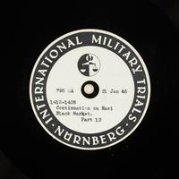 Day 39 International Military Tribunal, Nuremberg (Set A)  Click to enlarge
