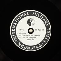 Day 40 International Military Tribunal, Nuremberg (Set A)  Click to enlarge