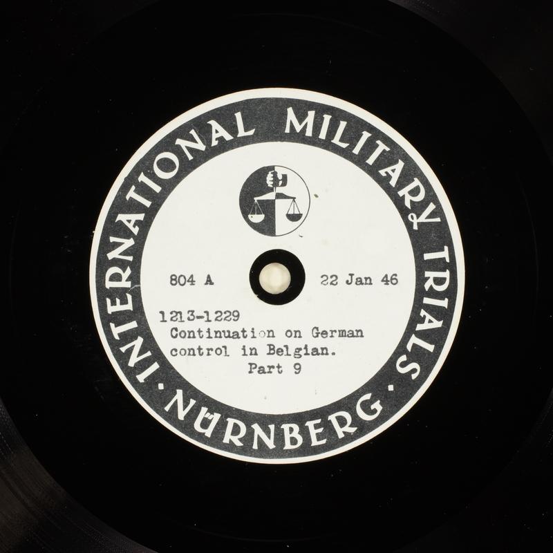Day 40 International Military Tribunal, Nuremberg (Set A)