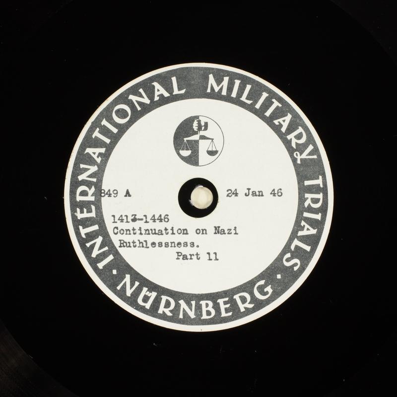 Day 42 International Military Tribunal, Nuremberg (Set A)