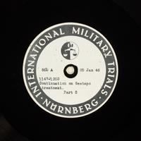 Day 43 International Military Tribunal, Nuremberg (Set A)  Click to enlarge