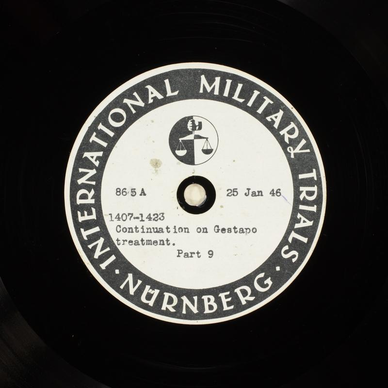 Day 43 International Military Tribunal, Nuremberg (Set A)