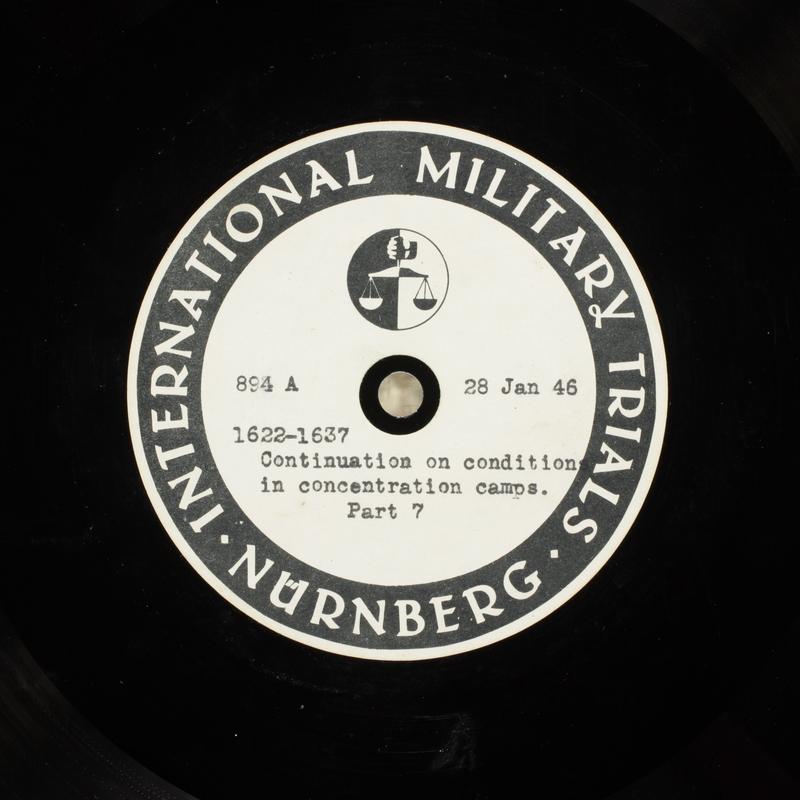 Day 44 International Military Tribunal, Nuremberg (Set A)