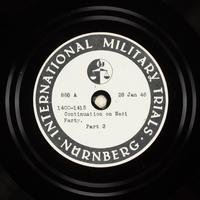 Day 44 International Military Tribunal, Nuremberg (Set A)  Click to enlarge