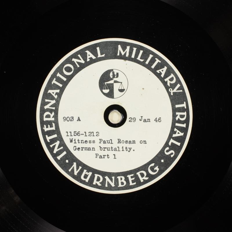 Day 45 International Military Tribunal, Nuremberg (Set A)