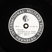 Day 46 International Military Tribunal, Nuremberg (Set A)  Click to enlarge