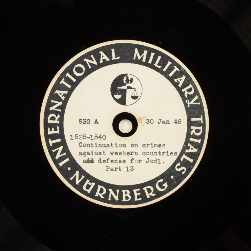 Day 46 International Military Tribunal, Nuremberg (Set A)