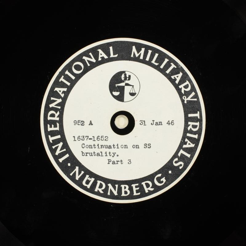 Day 47 International Military Tribunal, Nuremberg (Set A)