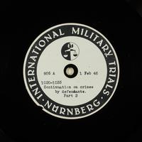 Day 48 International Military Tribunal, Nuremberg (Set A)  Click to enlarge