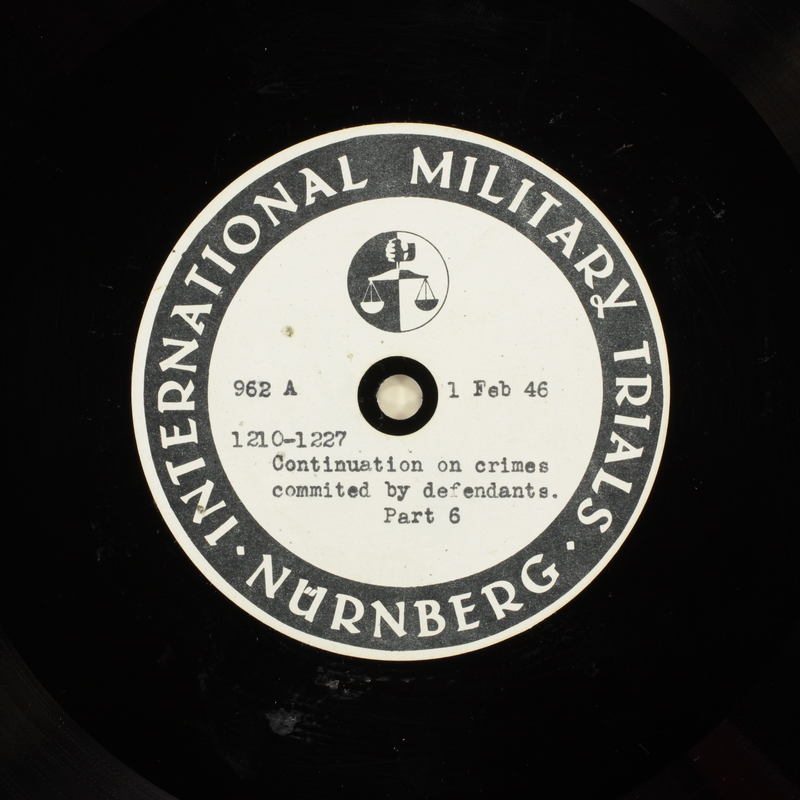 Day 48 International Military Tribunal, Nuremberg (Set A)