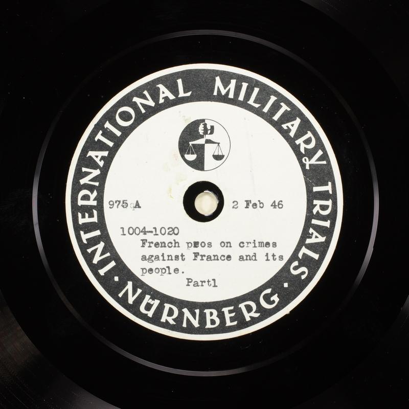 Day 49 International Military Tribunal, Nuremberg (Set A)