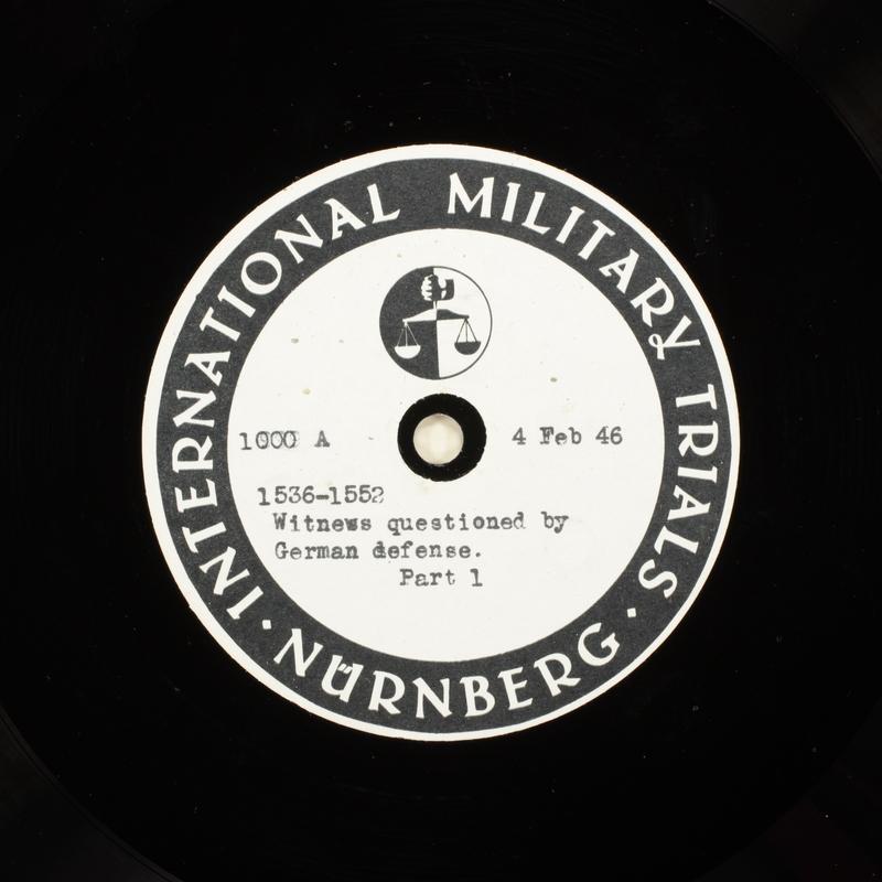 Day 50 International Military Tribunal, Nuremberg (Set A)