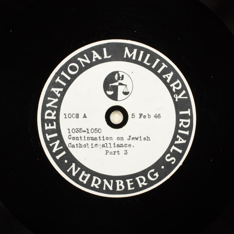 Day 51 International Military Tribunal, Nuremberg (Set A)