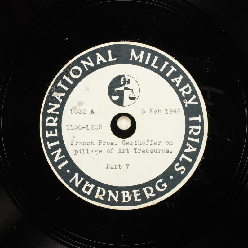Day 52 International Military Tribunal, Nuremberg (Set A)