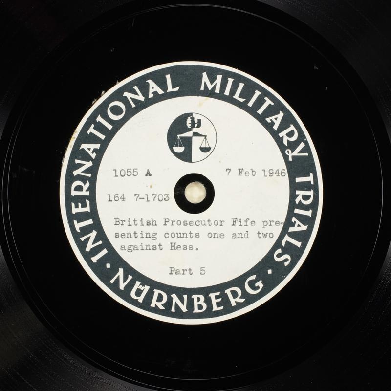 Day 53 International Military Tribunal, Nuremberg (Set A)