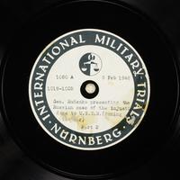 Day 53 International Military Tribunal, Nuremberg (Set A)  Click to enlarge