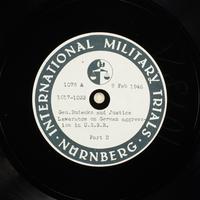 Day 55 International Military Tribunal, Nuremberg (Set A)  Click to enlarge