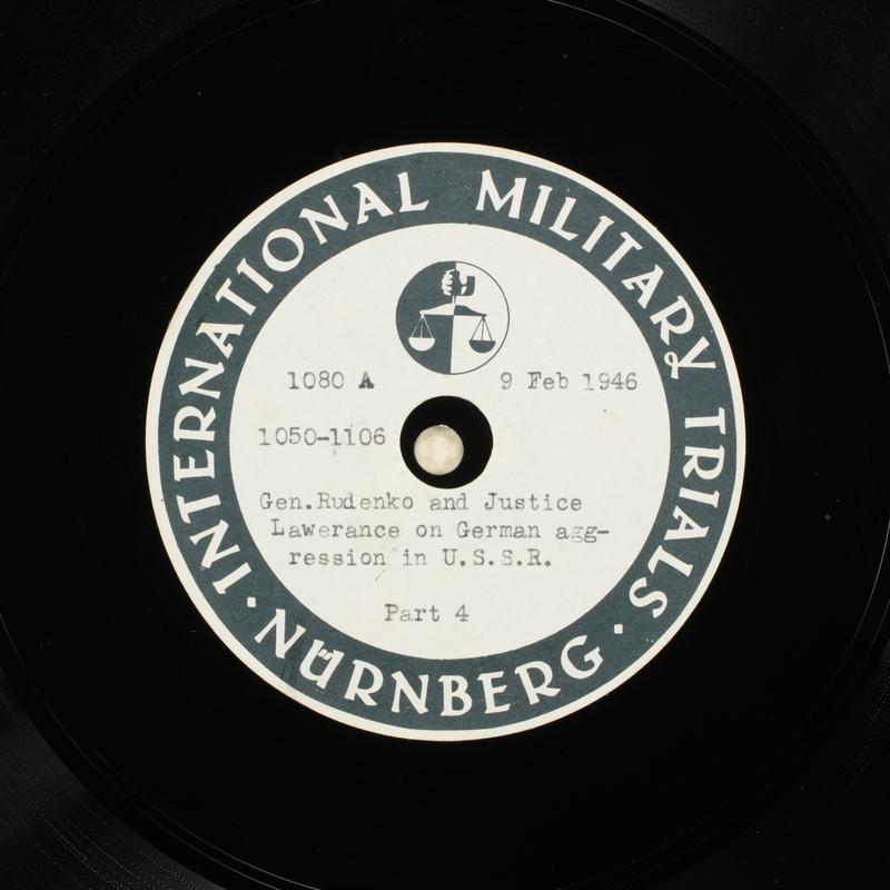 Day 55 International Military Tribunal, Nuremberg (Set A)
