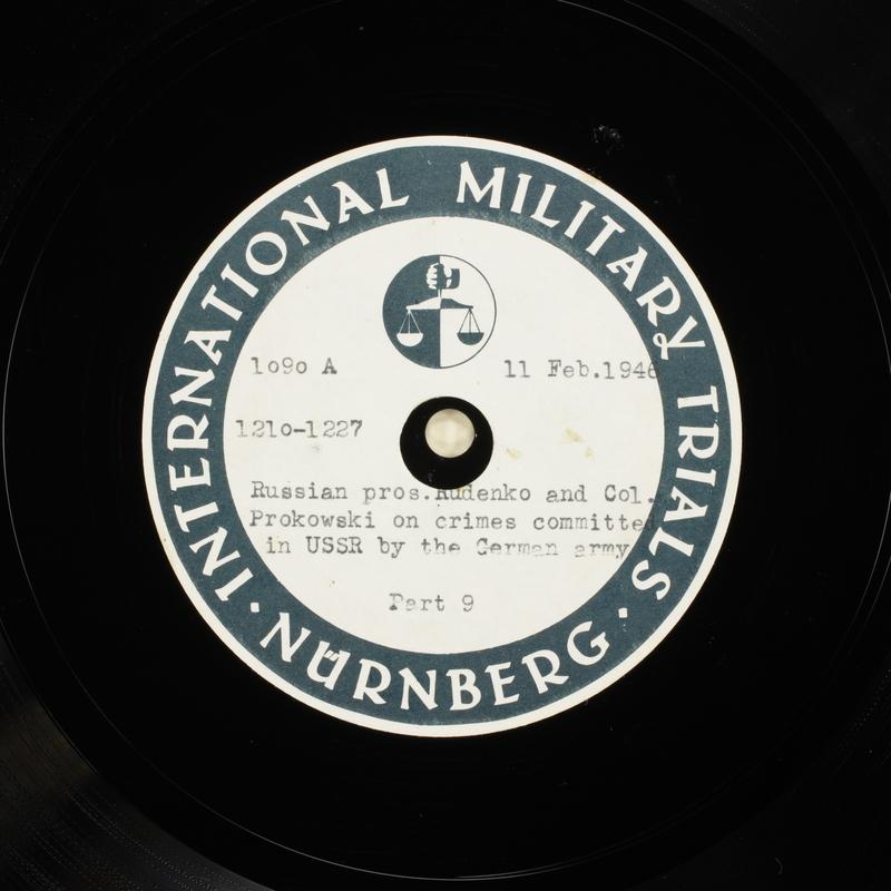 Day 56 International Military Tribunal, Nuremberg (Set A)