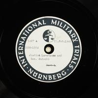 Day 56 International Military Tribunal, Nuremberg (Set A)  Click to enlarge
