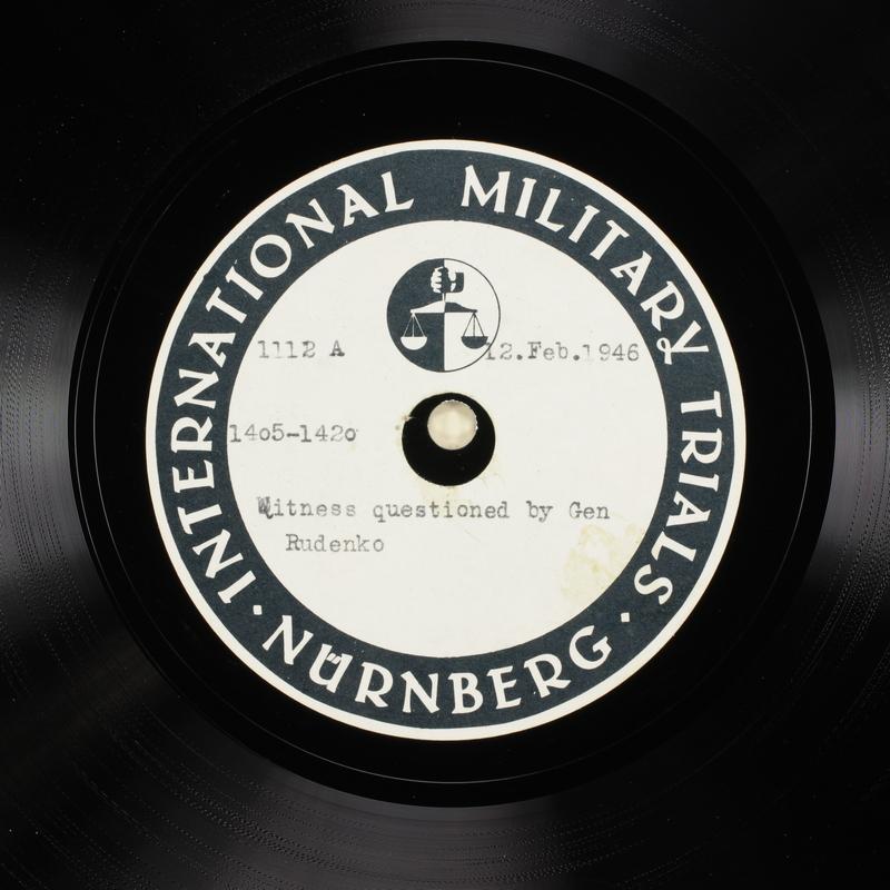 Day 57 International Military Tribunal, Nuremberg (Set A)