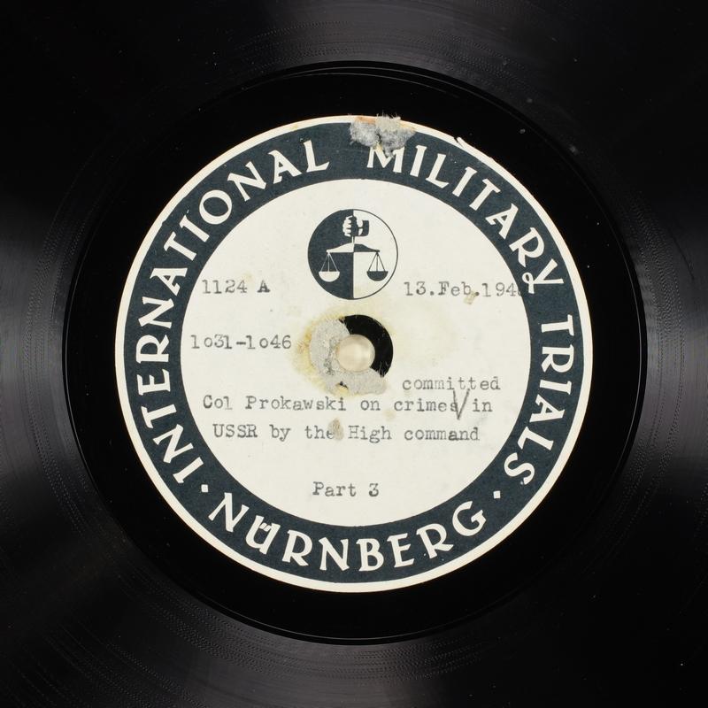 Day 58 International Military Tribunal, Nuremberg (Set A)