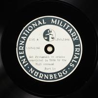 Day 58 International Military Tribunal, Nuremberg (Set A)  Click to enlarge