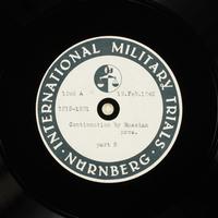 Day 62 International Military Tribunal, Nuremberg (Set A)  Click to enlarge
