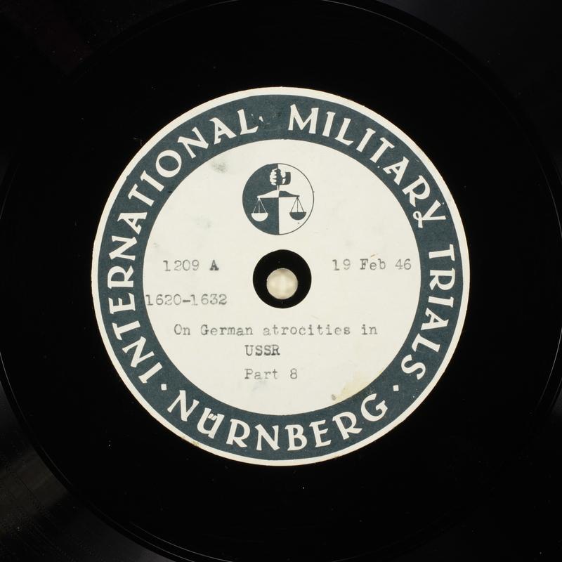 Day 62 International Military Tribunal, Nuremberg (Set A)