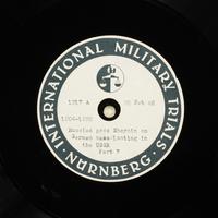 Day 63 International Military Tribunal, Nuremberg (Set A)  Click to enlarge