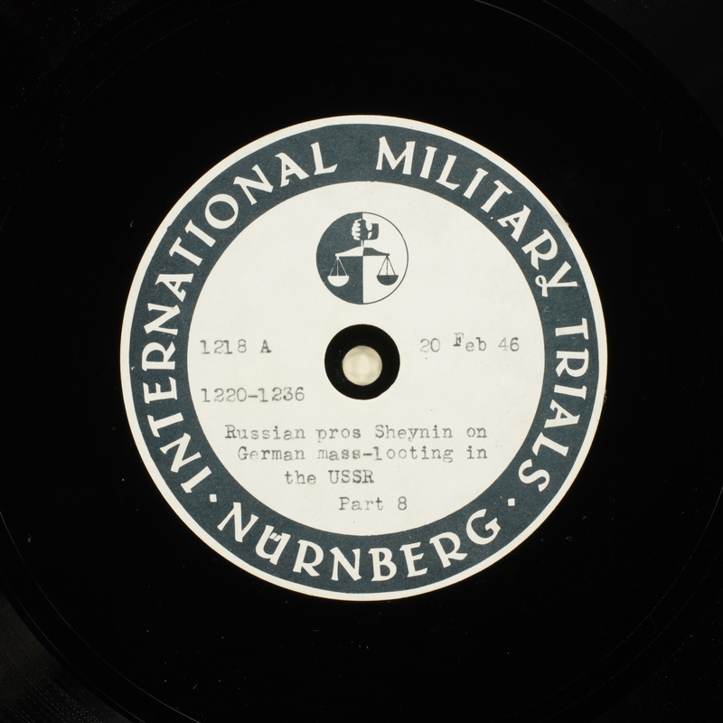Day 63 International Military Tribunal, Nuremberg (Set A)