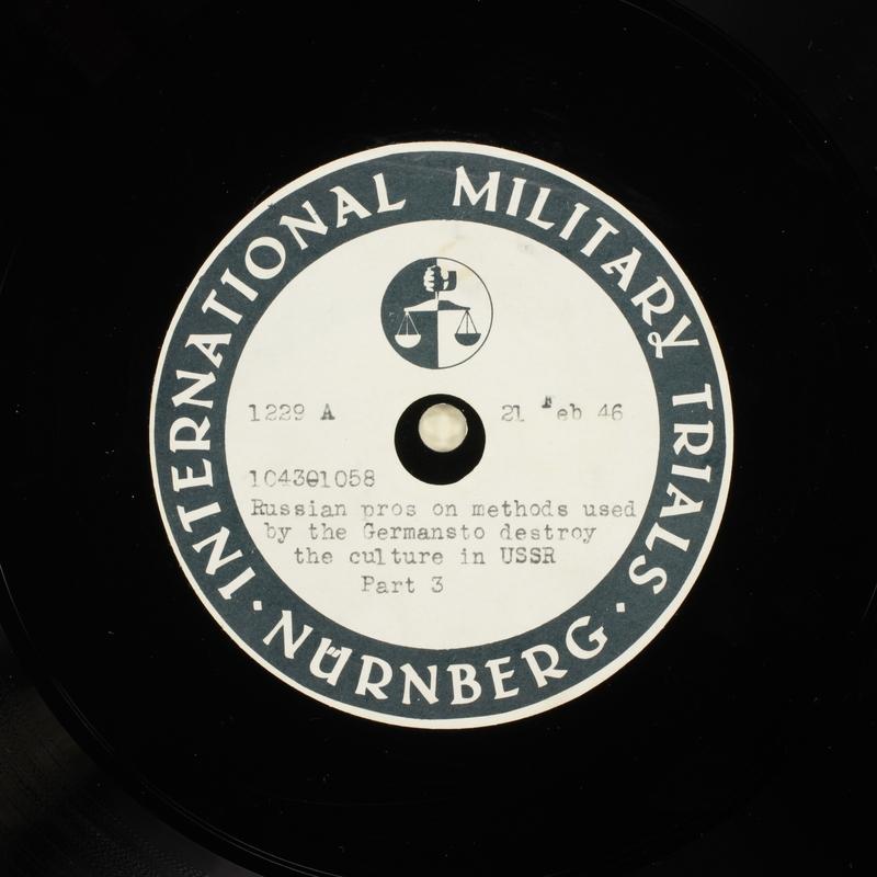 Day 64 International Military Tribunal, Nuremberg (Set A)