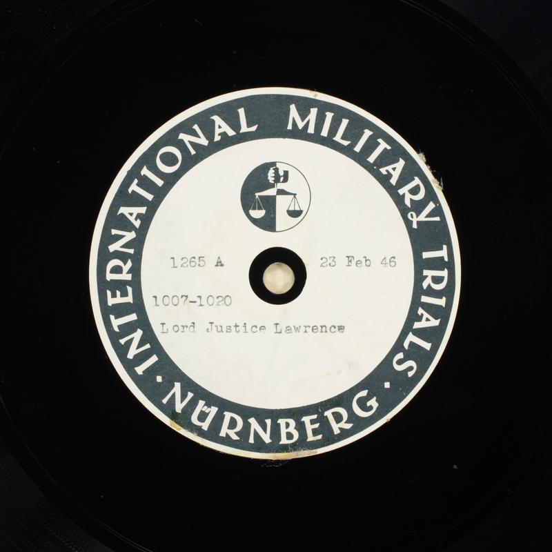 Day 65 International Military Tribunal, Nuremberg (Set A)