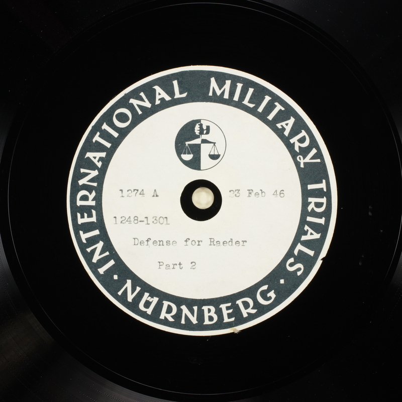 Day 66 International Military Tribunal, Nuremberg (Set A)