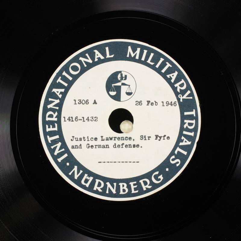 Day 68 International Military Tribunal, Nuremberg (Set A)