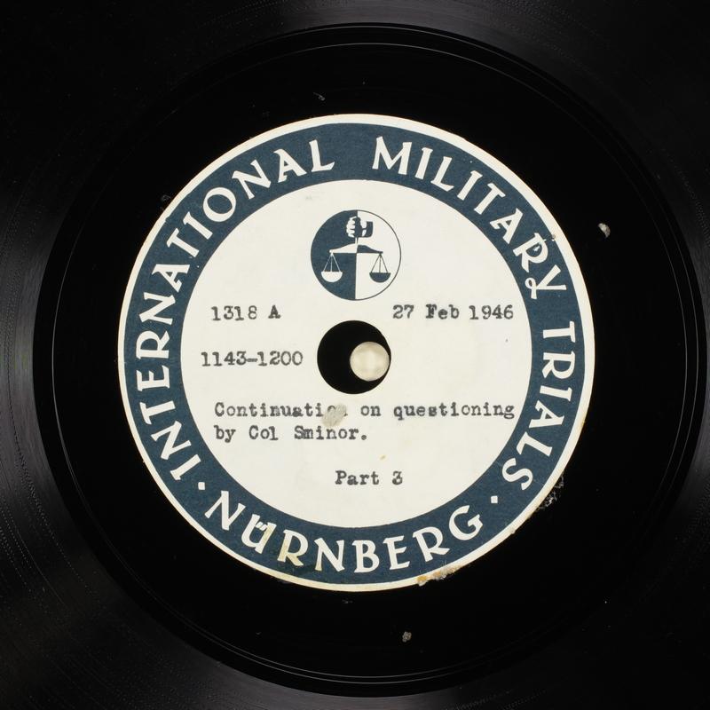 Day 69 International Military Tribunal, Nuremberg (Set A)