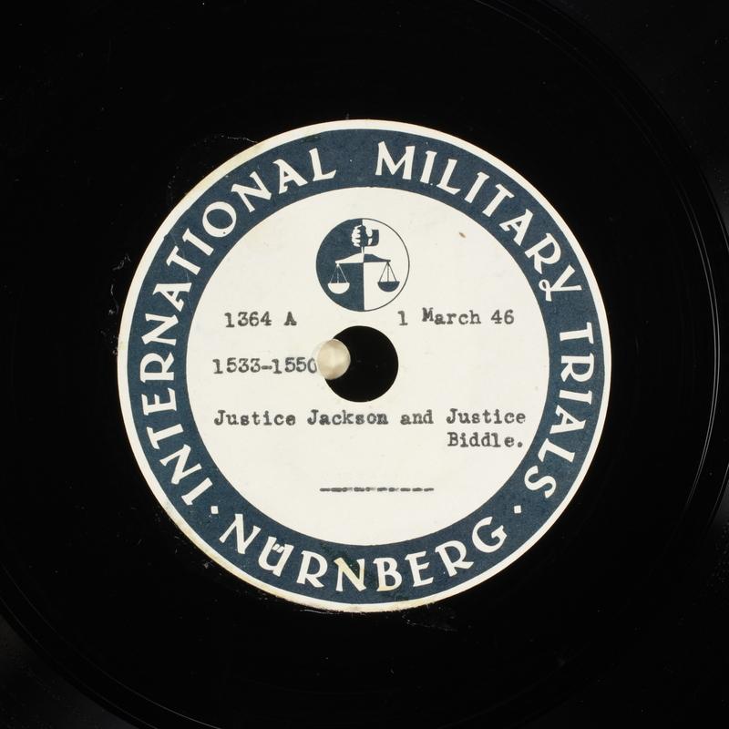 Day 71 International Military Tribunal, Nuremberg (Set A)