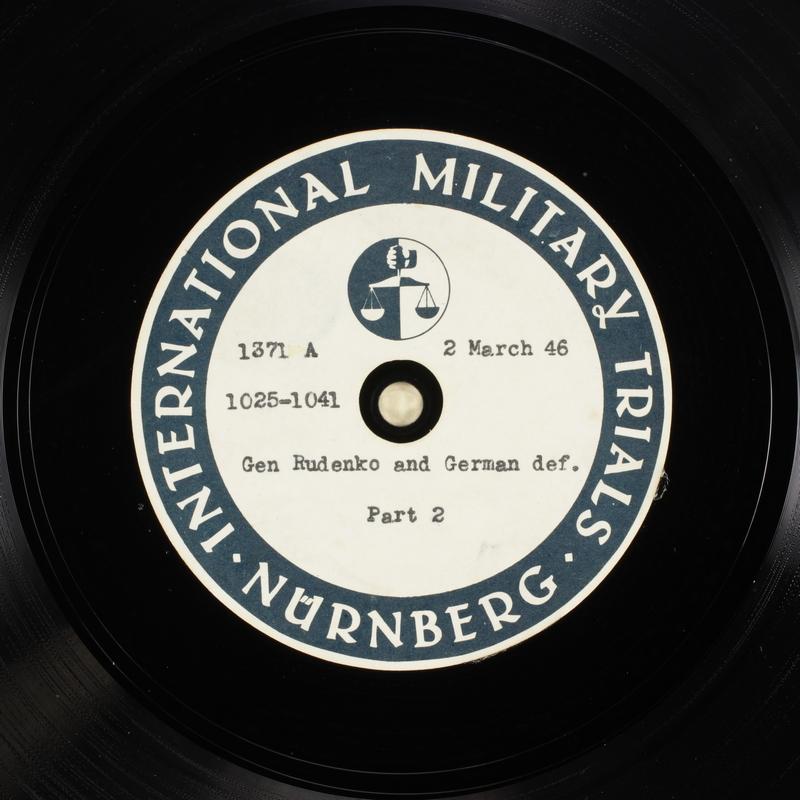 Day 72 International Military Tribunal, Nuremberg (Set A)