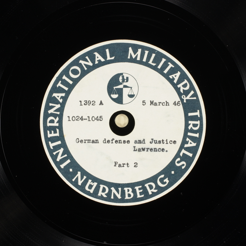 Day 73 International Military Tribunal, Nuremberg (Set A)
