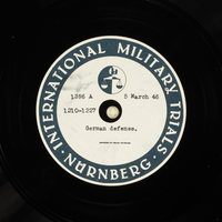 Day 74 International Military Tribunal, Nuremberg (Set A)  Click to enlarge