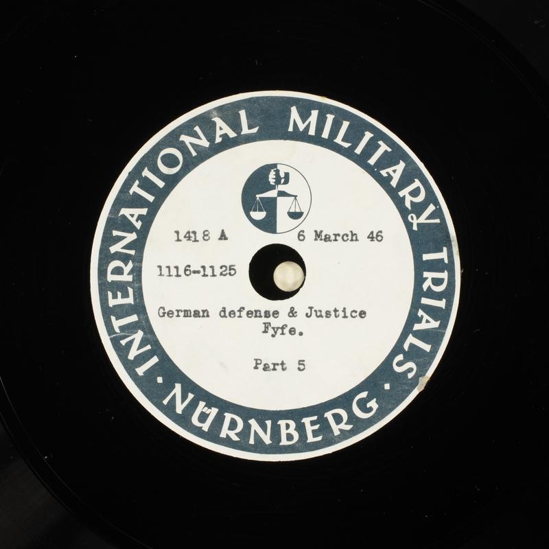 Day 75 International Military Tribunal, Nuremberg (Set A)