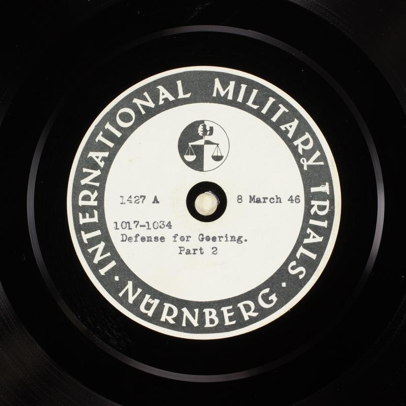 Day 77 International Military Tribunal, Nuremberg (Set A)