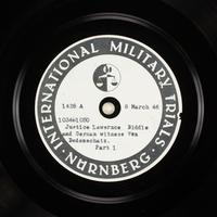 Day 77 International Military Tribunal, Nuremberg (Set A)  Click to enlarge